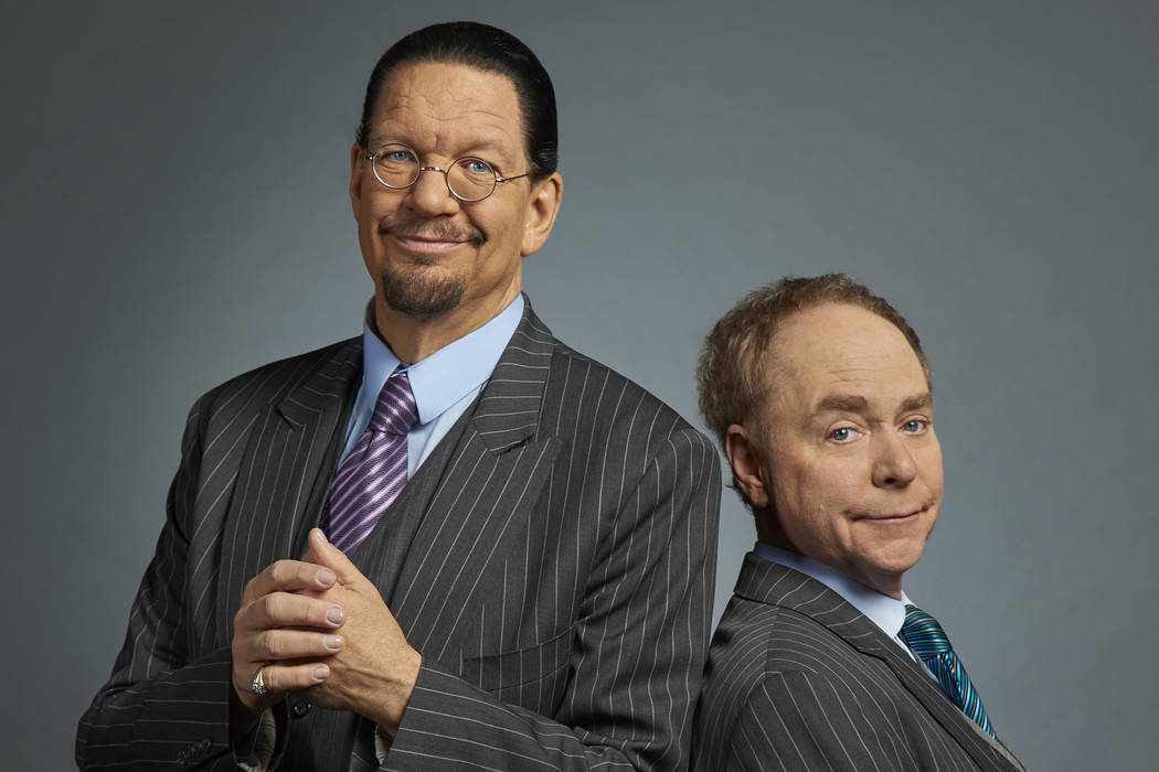 Penn & Teller, the comedy duo that perform at the Rio, are going dark for five weeks this summer while Teller undergoes back surgery. (Caesars Entertainment)