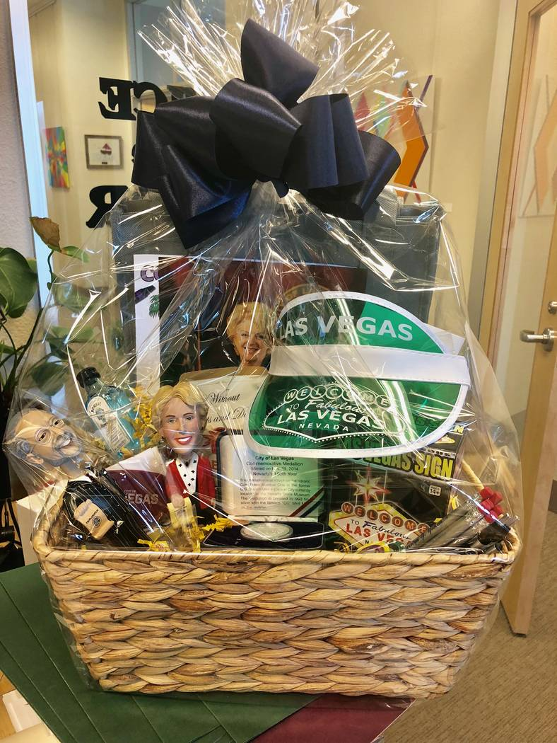 The Las Vegas goodie basket Mayor Carolyn Goodman is sending to Washington D.C. Mayor Carolyn Bowser as payoff for the bet the two officials made on the Stanley Cup Final. (City of Las Vegas)