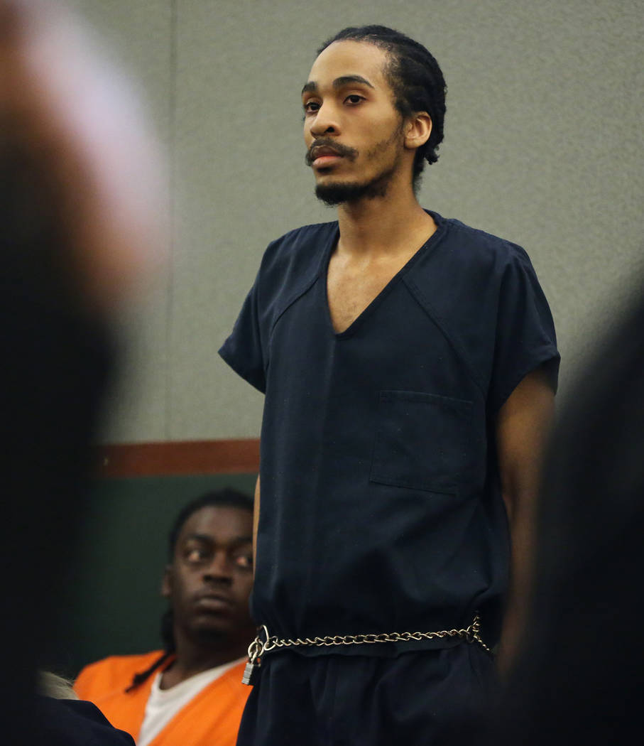 Clemon Hudson, who was convicted of attempted murder for his role in the shooting of a Metropolitan Police Department officer three years ago, during his sentencing hearing at the Regional Justice ...