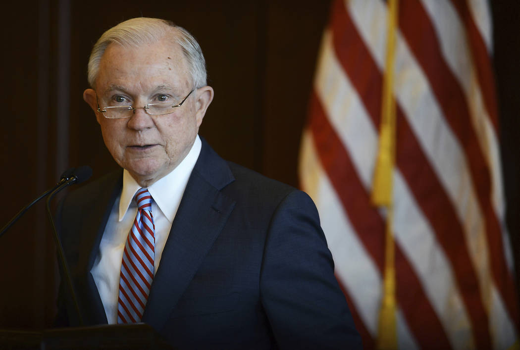U.S. Attorney General Jeff Sessions speaks on immigration policy and law enforcement actions at Lackawanna College in downtown Scranton, Pa., on Friday, June 15, 2018. (Butch Comegys/The Times-Tri ...