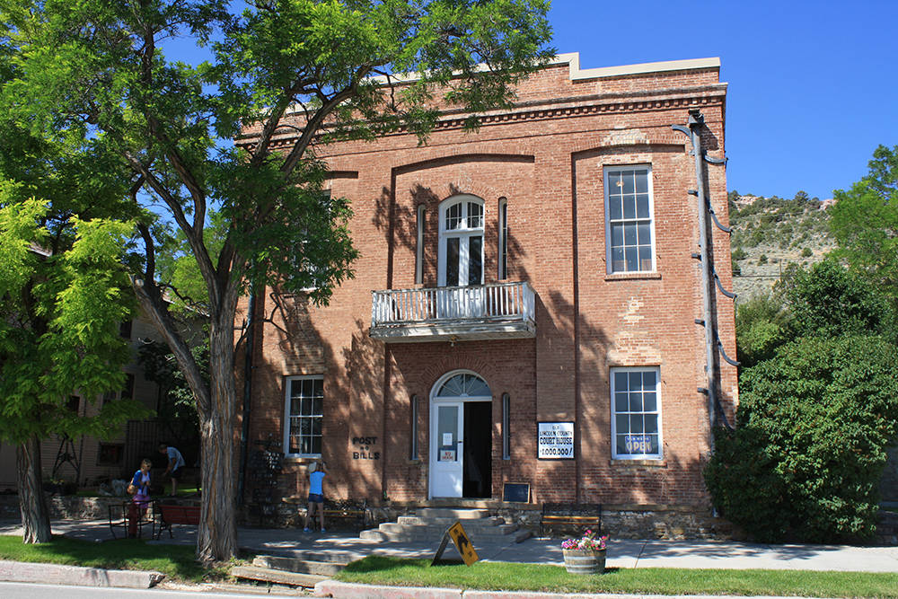 """The two-story brick """"Million Dollar"""" Courthouse in Pioche. (Deborah Wall)"""