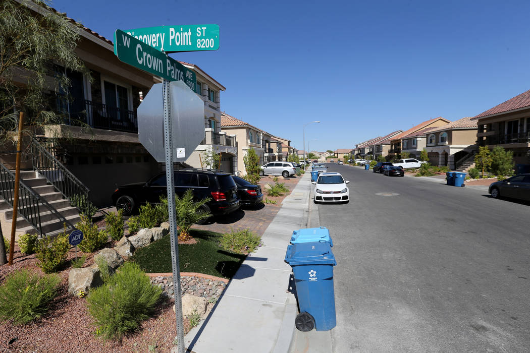 Crown Palms Avenue, near Jones Boulevard and Blue Diamond Road Friday, June 22, 2018. Arnulfo Robles, 17, who police say fired a high-powered rifle at a Metro officer in February while live stream ...