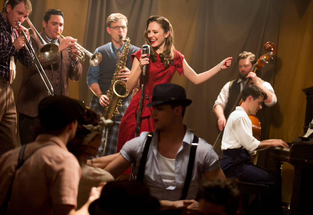 "Laura Osnes is shown in a promotional shot for the Broadway musical ""Bandstand,"" co-written by Las Vegas composers Richard Oberacker and Robert Taylor. (Jeremy Daniel)"