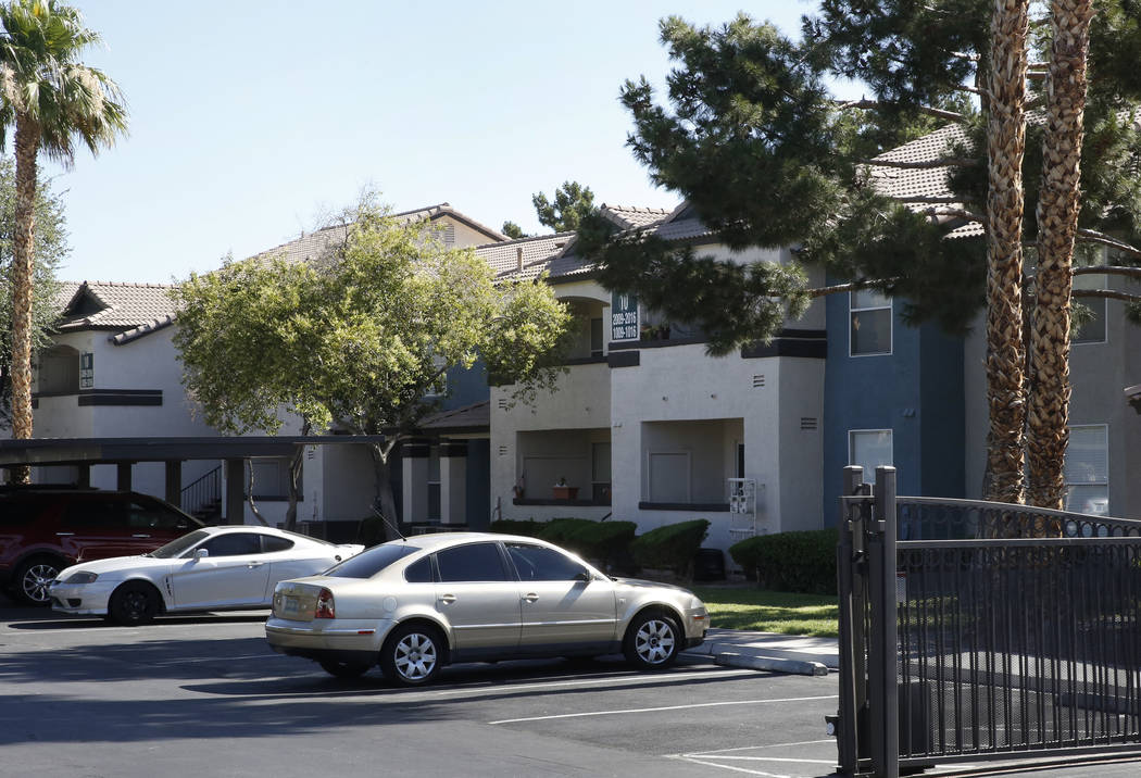 The exterior of the Xander 3900 apartment complex at 3900 Dalecrest Drive photographed on Friday, June 22, 2018, in Las Vegas. Bizuayehu Tesfaye/Las Vegas Review-Journal @bizutesfaye