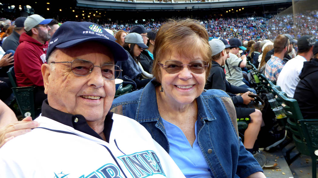 As part of an awareness program about cancer research at the Hutch, Jim Morrison and his daughter Jane Ann, along with four friends, attended the June 14 Seattle Mariners game at Safeco Field. Ph ...