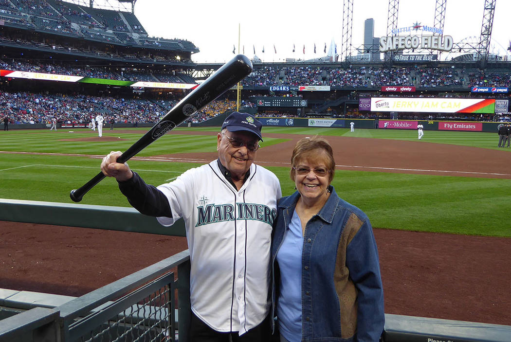 Jim Morrison, 88, was honored June 14 at the Seattle Mariners game against the Boston Red Sox as a Hutch Hero for being a 25-year cancer survivor following a bone marrow transplant at the Fred Hut ...