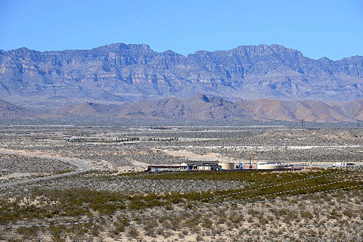 As part of a test to see how much water it should be allowed to pump, the Southern Nevada Water Authority spent $36 million to build a treatment plant and a pipeline from this Coyote Springs Valle ...