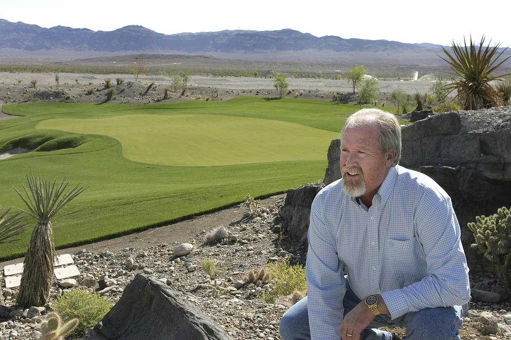 Coyote Springs developer Harvey Whittemore talks about the development while overlooking the Coyote Springs Golf Course Thursday, May 24, 2007, near Moapa, Nevada. (Gary Thompson/Las Vegas Review- ...
