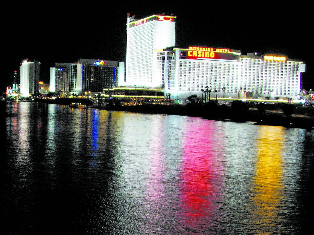 A row of casinos along the Colorado River in Laughlin seen on Nov. 29, 2013. (F. Andrew Taylor/Review-Journal)