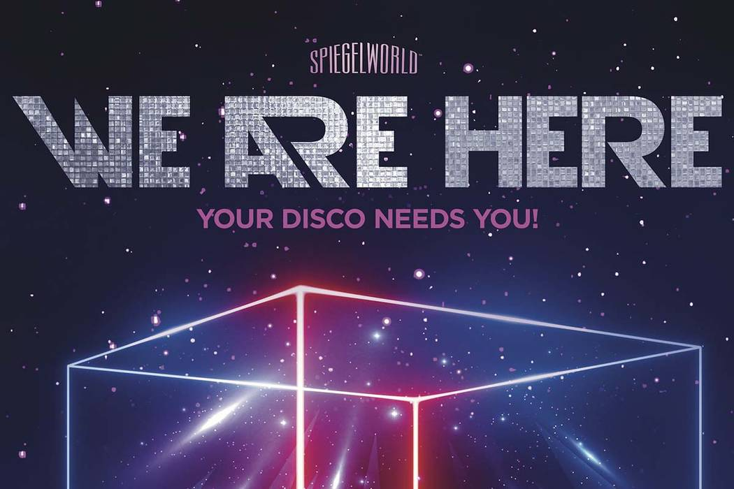 "Part of a promotional poster for ""We Are Here,"" a disco production in development by Spiegelworld targeted for a 2019 opening on the Strip. (Spiegelworld)"