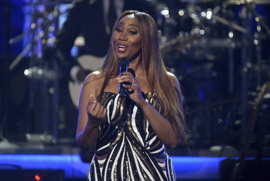 """Yolanda Adams performs """"You Bring Me Joy"""" during a tribute to lifetime achievement award winner Anita Baker at the BET Awards at the Microsoft Theater on Sunday, June 24, 2018, in Los An ..."""
