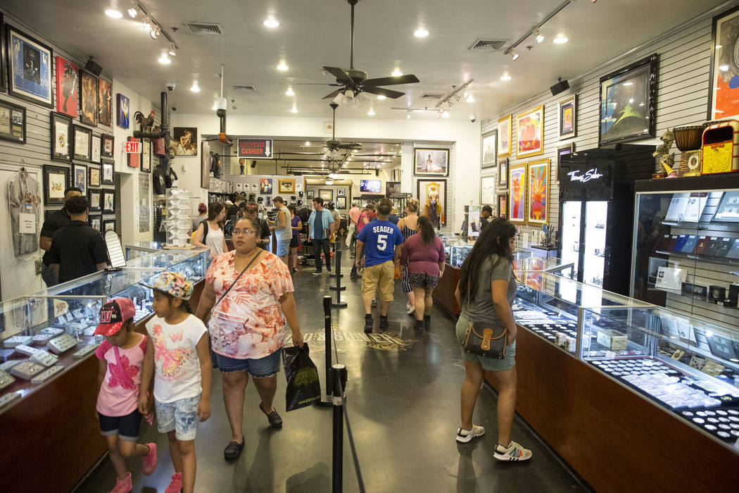 People visit the Gold & Silver Pawn Shop on Las Vegas Boulevard in downtown Las Vegas on Monday, June 25, 2018. Richard Brian Las Vegas Review-Journal @vegasphotograph