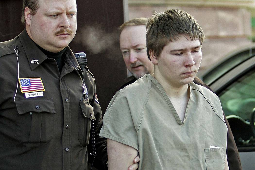 Brendan Dassey is escorted out of a Manitowoc County Circuit courtroom in Manitowoc, Wisconsin, March 3, 2006. Th U.S. Supreme Court declined to hear his case, Monday, June 25, 2018. (Morry Gash/A ...