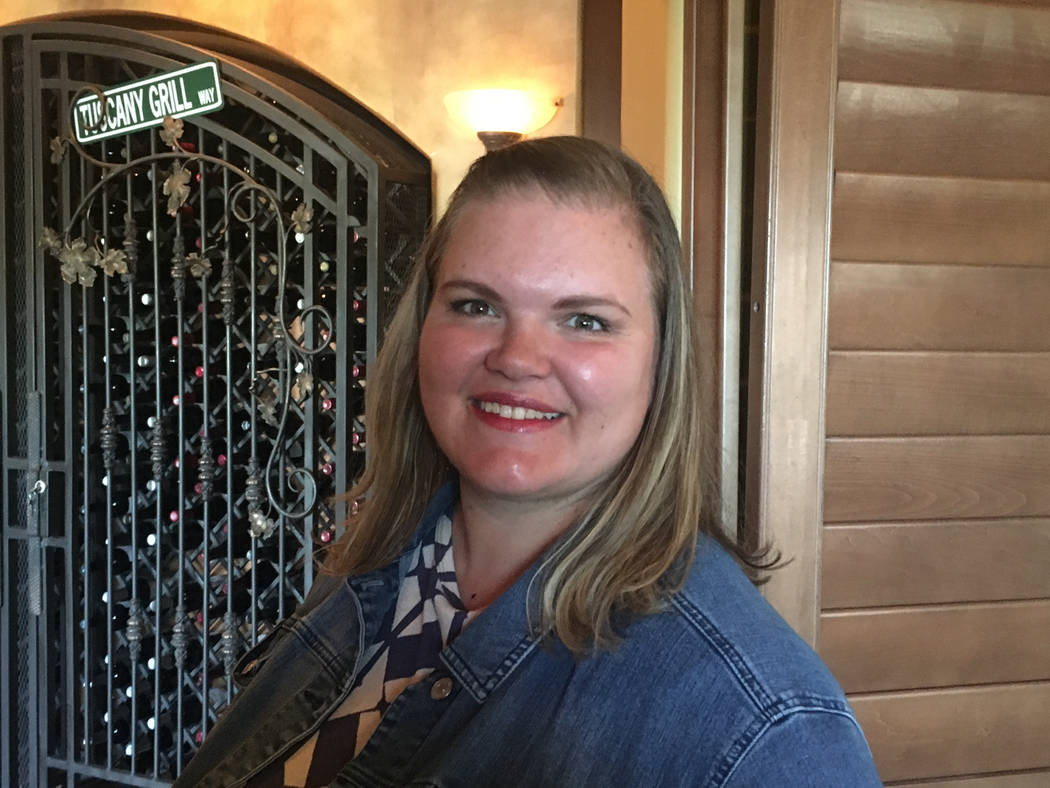 Abbie Fox, leader for the Henderson and Las Vegas MOB Nation chapters, seen June 27, 2018, at the Henderson chapter launch at Tuscany Grill, 11105 S. Eastern Ave. (Bailey Schulz/Las Vegas Review-J ...