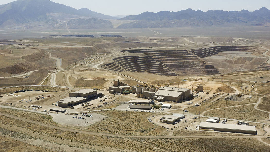 Undated overview of the Barrick mine complex. (Courtesy Barrick Gold of North America)