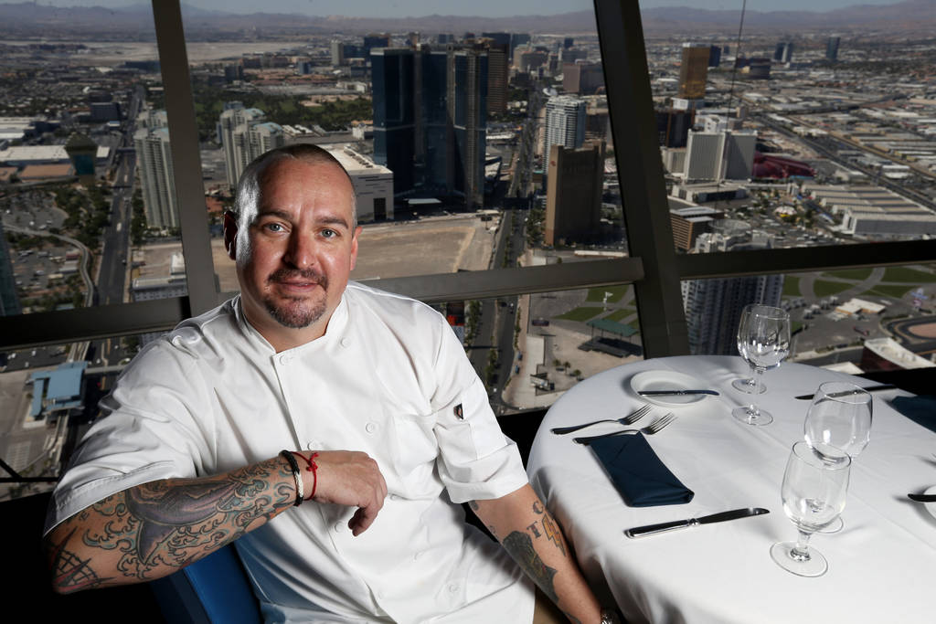 Chef Johnny Church, corporate executive chef at Golden Entertainment, Inc., at Top of the World restaurant at Stratosphere in Las Vegas Friday, June 22, 2018. K.M. Cannon Las Vegas Review-Journal ...