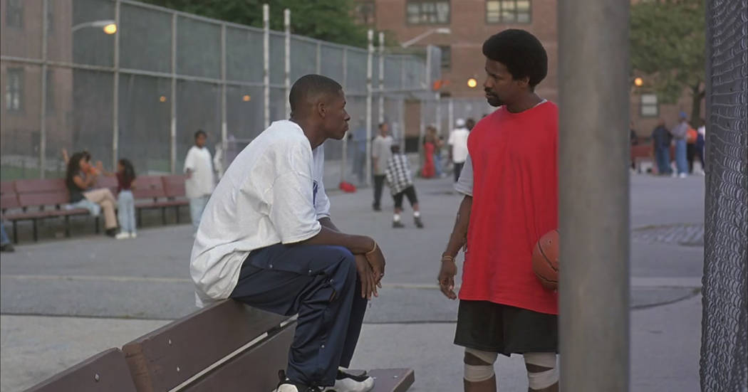 """Ray Allen and Denzel Washington in """"He Got Game."""" (Touchstone Pictures)"""