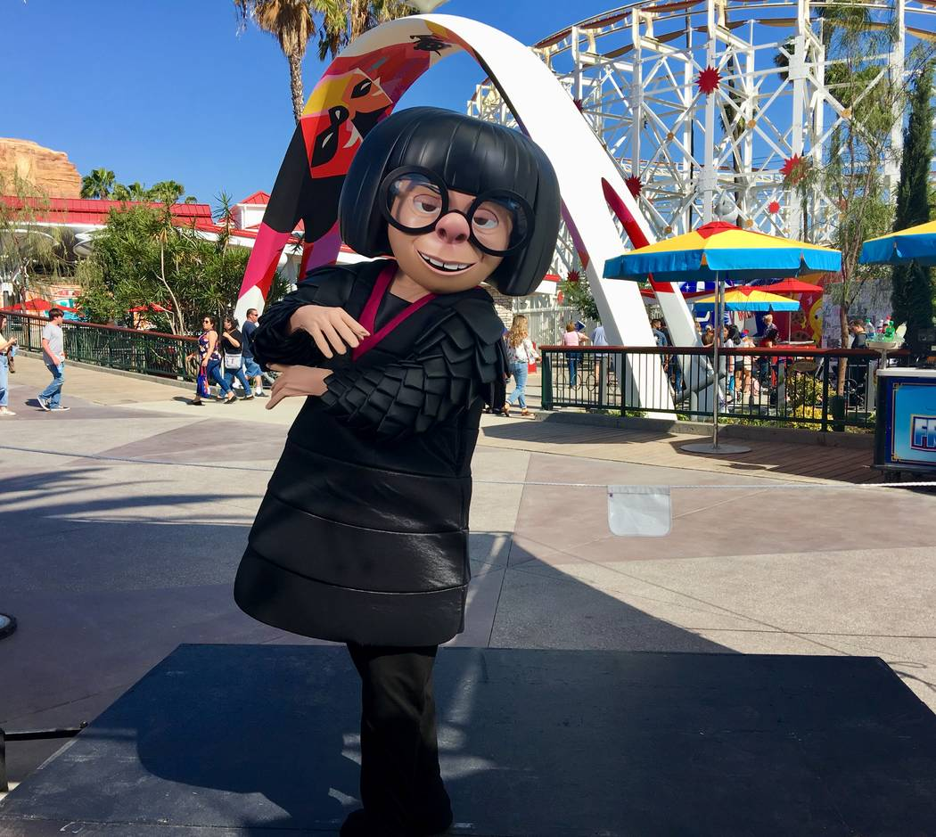 "A new addition to Disney California Adventure Park, guests will now have a chance to snap photos with ""Edna Mode"" from the ""Incredibles"". (Las Vegas Review-Journal)"