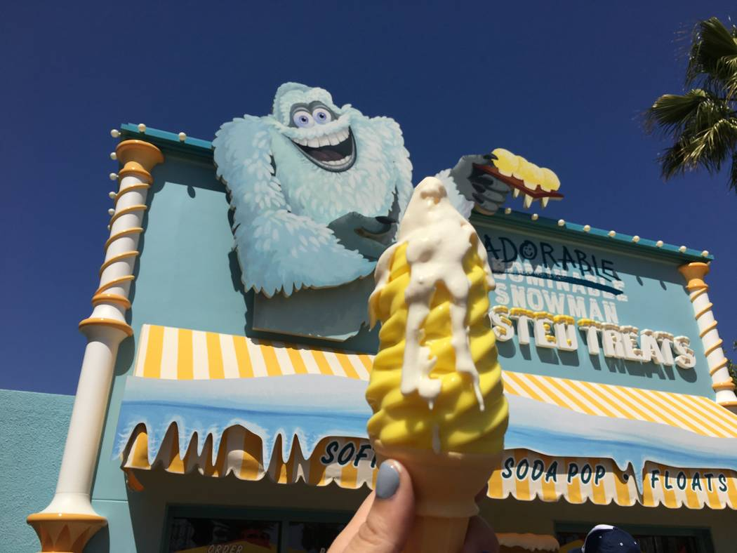"The ""It's Snow-Capped Lemon!"" treat from the Adorable Snowman Frosted Treats shack on Pixar Pier. (Las Vegas Review-Journal)"