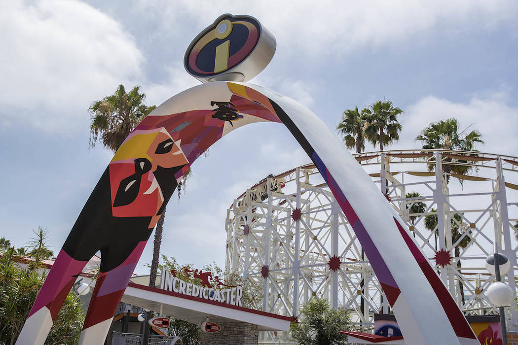 The entrance to the new Incredicoaster at Disney California Adventure Park. (Joshua Sudock/Disneyland Resort)