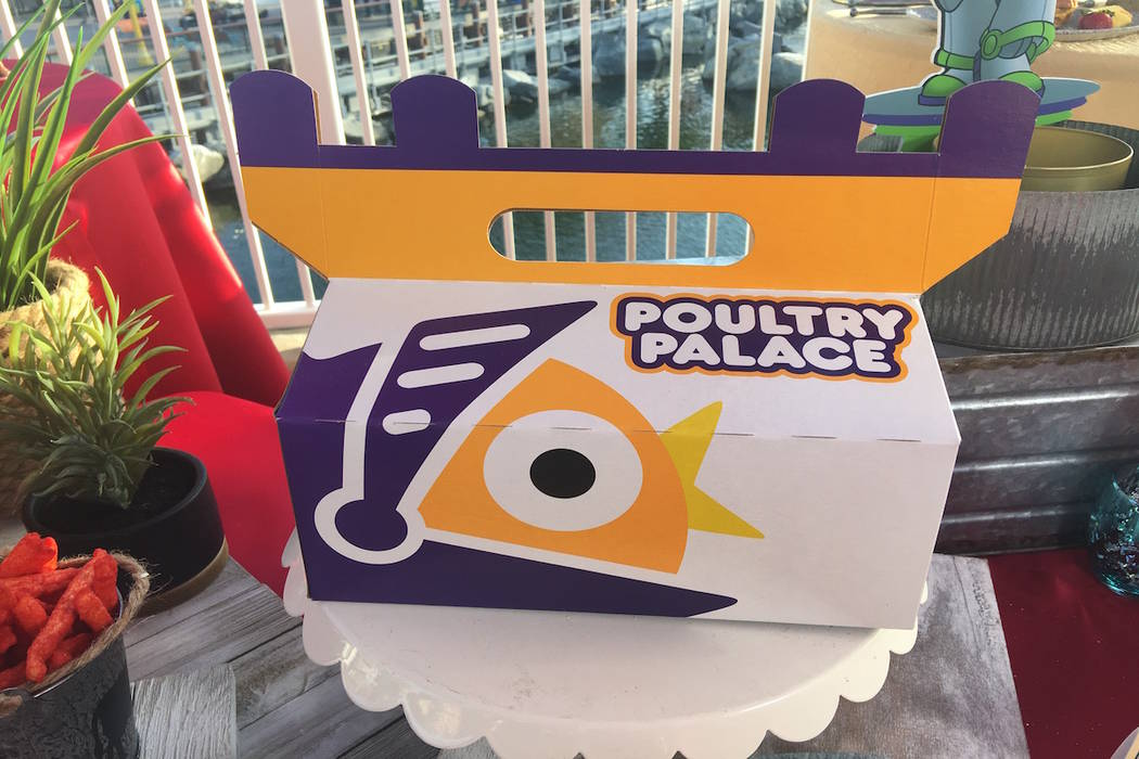 "The takeaway food box from the ""Toy Story""-inspired Poultry Palace eatery on Pixar Pier. (Las Vegas Review-Journal)"