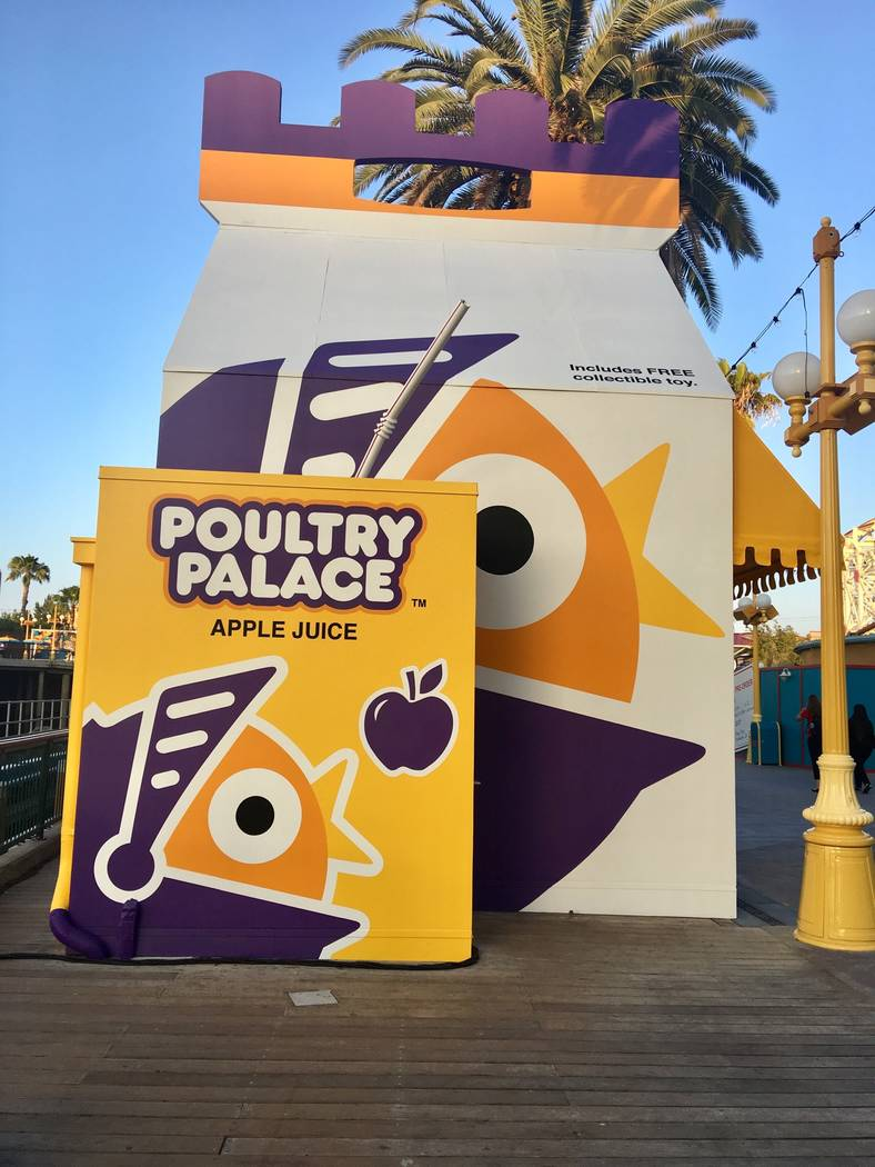"The exterior of the ""Toy Story""-inspired Poultry Palace eatery on Pixar Pier. (Las Vegas Review-Journal)"