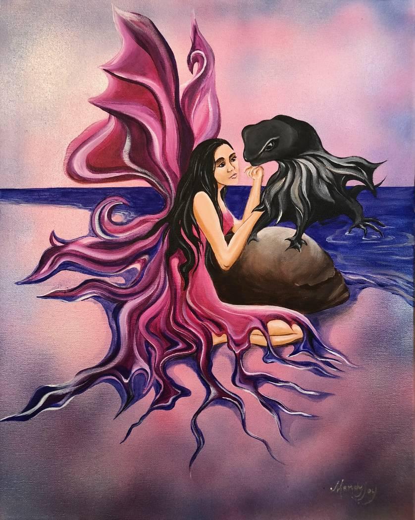 """Loch Ness,"" acrylic painting by Mandy Joy."