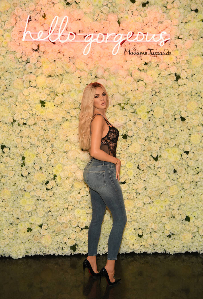 Khloe Kardashian's figure is shown at Madame Tussauds Las Vegas on June 26, 2018. (Denise Truscello)