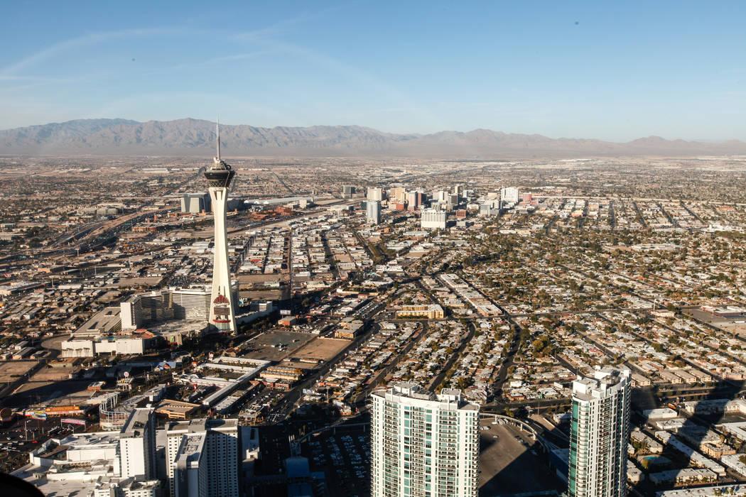 A view of the Stratosphere in Las Vegas. (Joel Angel Juarez/Las Vegas Review-Journal) @jajuarezphoto