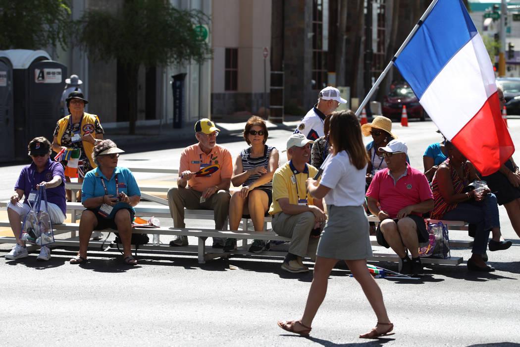 Spectators watch the Lions Clubs International Parade of Nations on S. 4th Street in Las Vegas, Saturday, June 30, 2018. Erik Verduzco Las Vegas Review-Journal @Erik_Verduzco