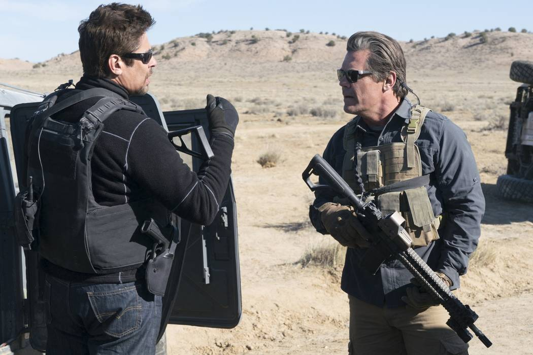 "Benicio Del Toro, left, and Josh Brolin star in ""Sicario: Day of the Soldado."" (Richard Foreman, Jr./Sony Pictures Entertainment)"