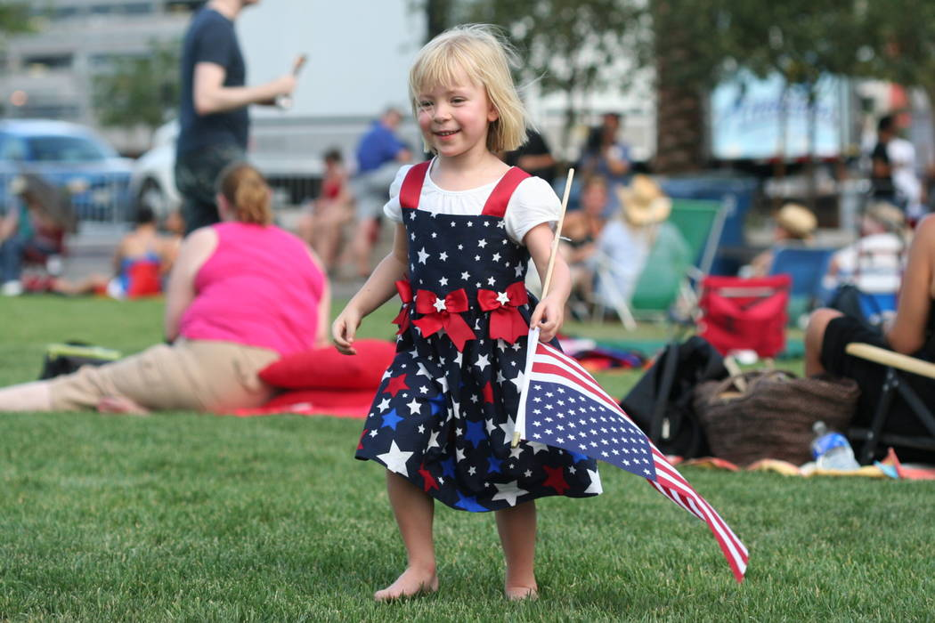 Celebrating the Fourth of July at the Las Vegas Philharmonic's 2013 Symphony Park/Smith Center event.