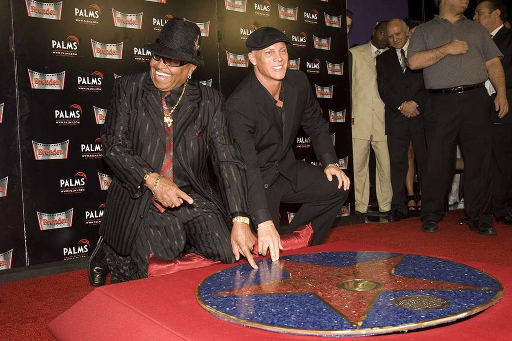 "Joe Jackson, left, received a Brenden Celebrity Star, Oct. 27, 2009, at the Palms in Las Vegas following the presentation of ""Michael Jackson's This Is It"" film screening. Joe Jackson died Wednesd ..."