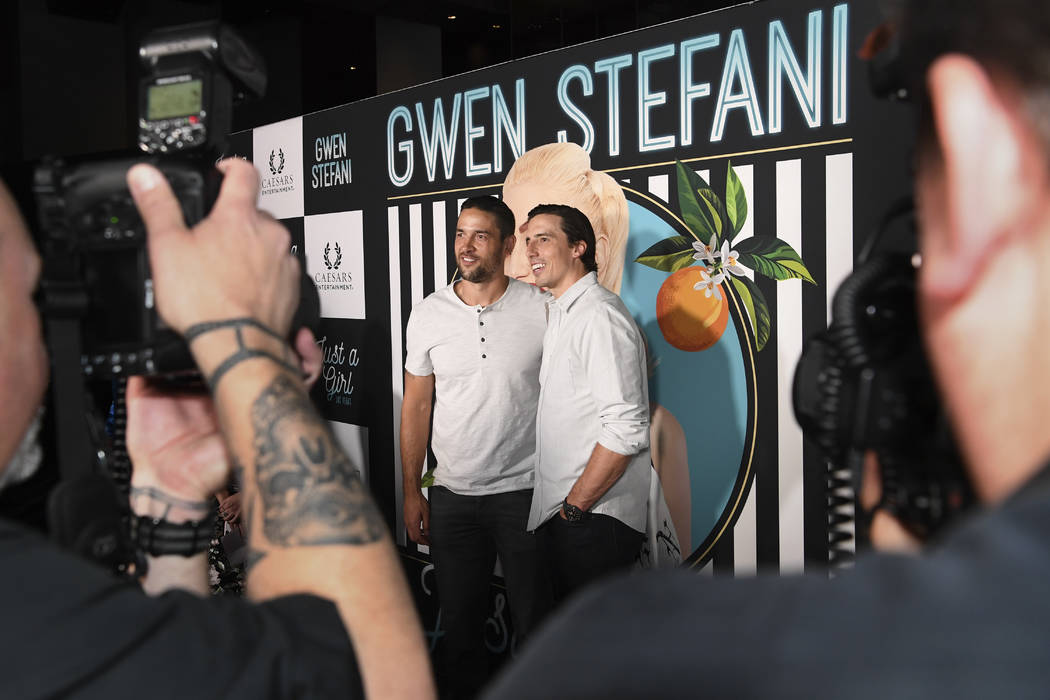 Las Vegas Knights defenseman Deryk Engelland and goalie Marc-Andr Fleury arrive on the red carpet for Gwen Stefani's new residency at Planet Hollywood Wednesday, June 27, 2018. CREDIT: Sam Morris/ ...