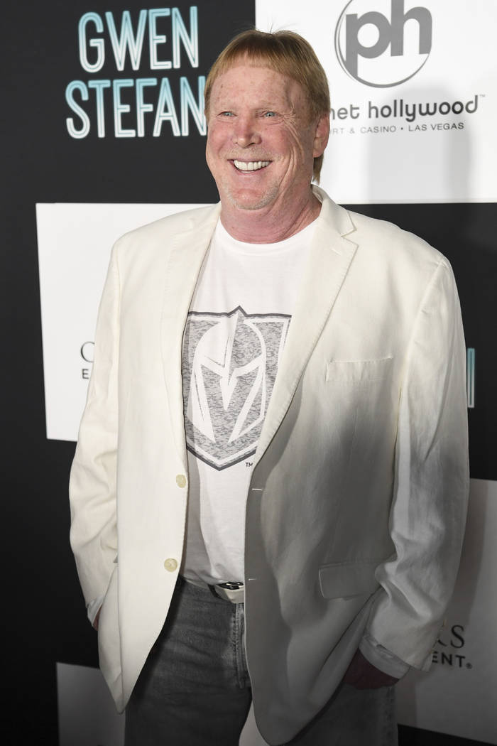 Oakland Raiders owner Mark Davis arrives on the red carpet for Gwen Stefani's new residency at Planet Hollywood Wednesday, June 27, 2018. CREDIT: Sam Morris/Las Vegas News Bureau