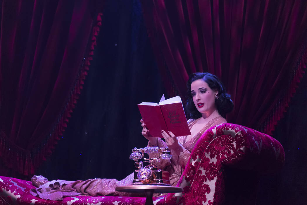 6920f0e30f5 Burlesque queen Dita Von Teese is back at House of Blues at Mandalay Bay. (