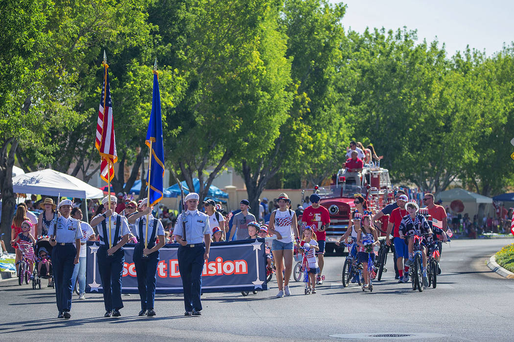 The military is always well represented and honored in the Summerlin Council Patriotic Parade. (Summerlin)