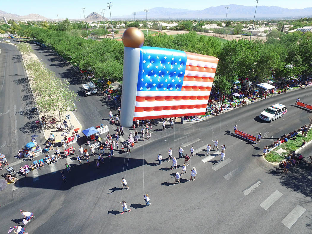 The Summerlin Council Patriotic Parade includes more than 70 entries, including giant inflatable balloons, floats, marching bands and performing groups. (Summerlin)