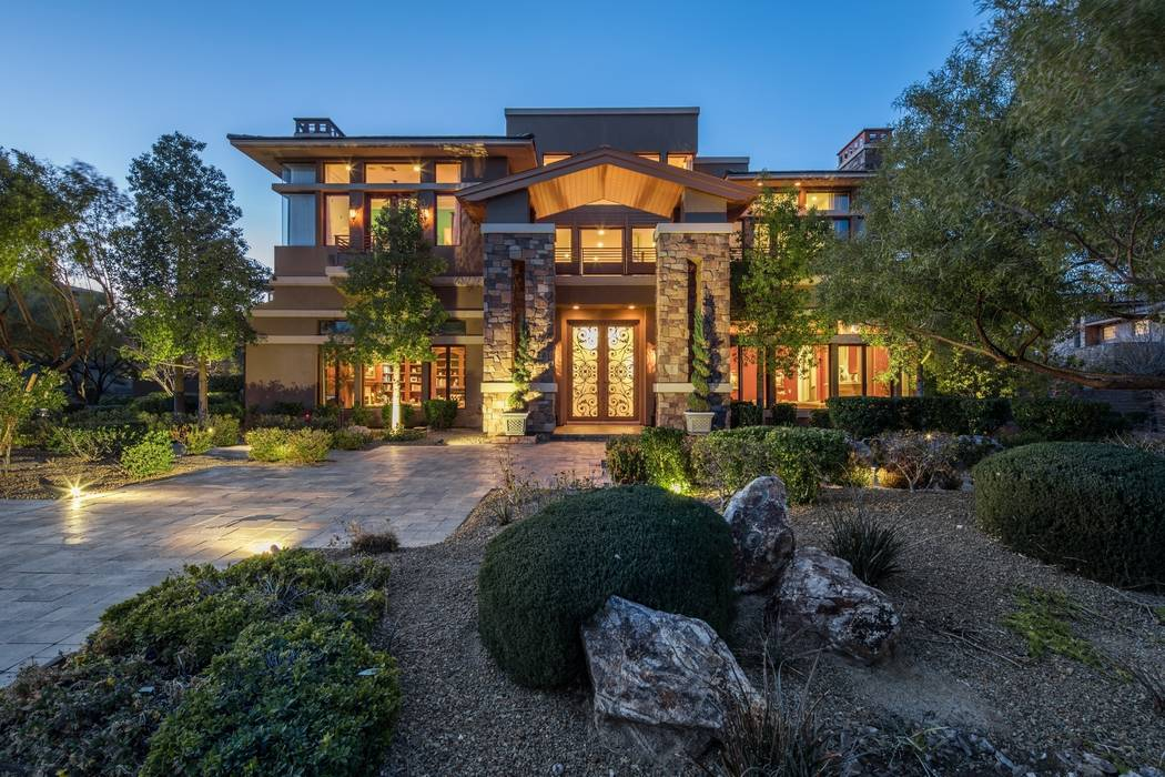 This 12,213-square-foot estate at 26 Promontory Ridge Drive is listed for $6,997,500.