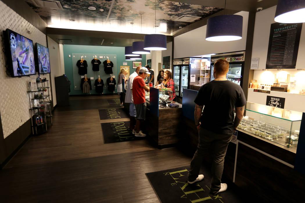 The marijuana dispensary at Exhale Nevada in Las Vegas Thursday, June 28, 2018. K.M. Cannon Las Vegas Review-Journal @KMCannonPhoto