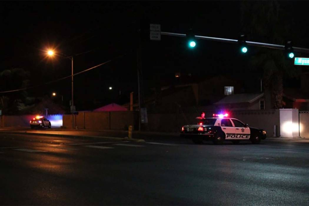 The Las Vegas Metropolitan Police Department is investigating an officer-involved shooting early Friday, June 30, 2018, in east Las Vegas. (Max Michor/Las Vegas Review-Journal)