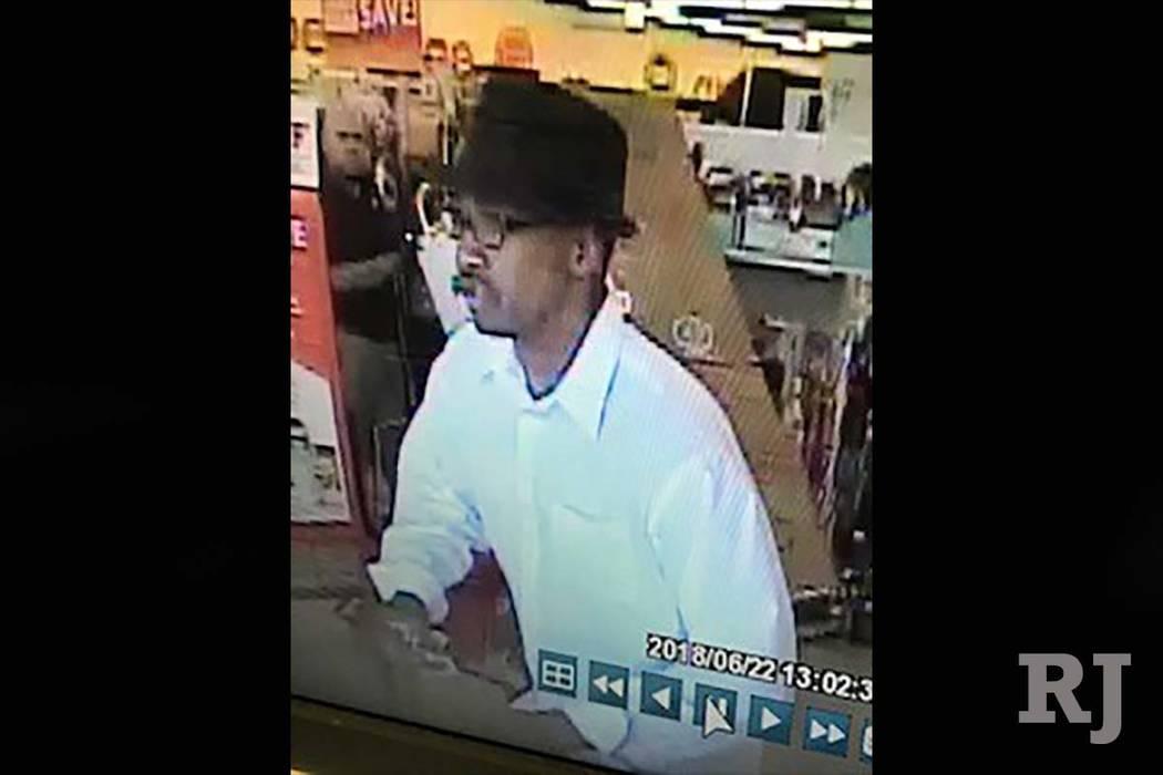 Las Vegas police released this photo of a robbery suspect. (Las Vegas Metropolitan police)