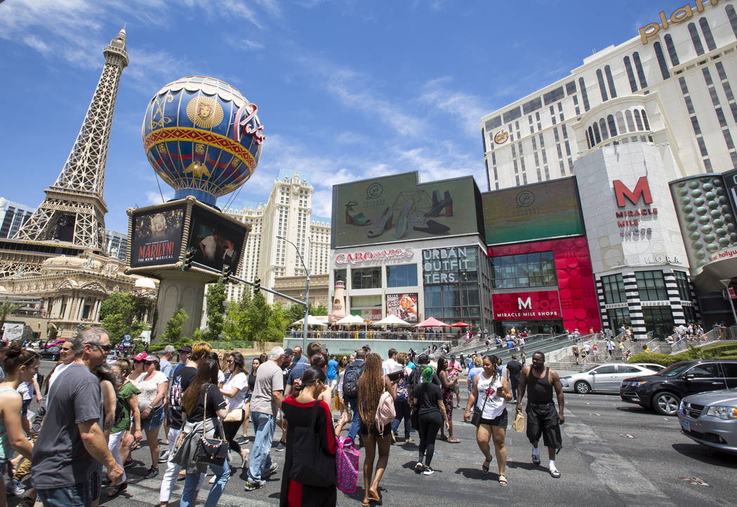 Clark County was responsible for 86.6 percent of the Nevada's win total in May with $904.6 million, and $581.5 million of the county total came from the Las Vegas Strip. (Richard Brian/Las Vegas ...