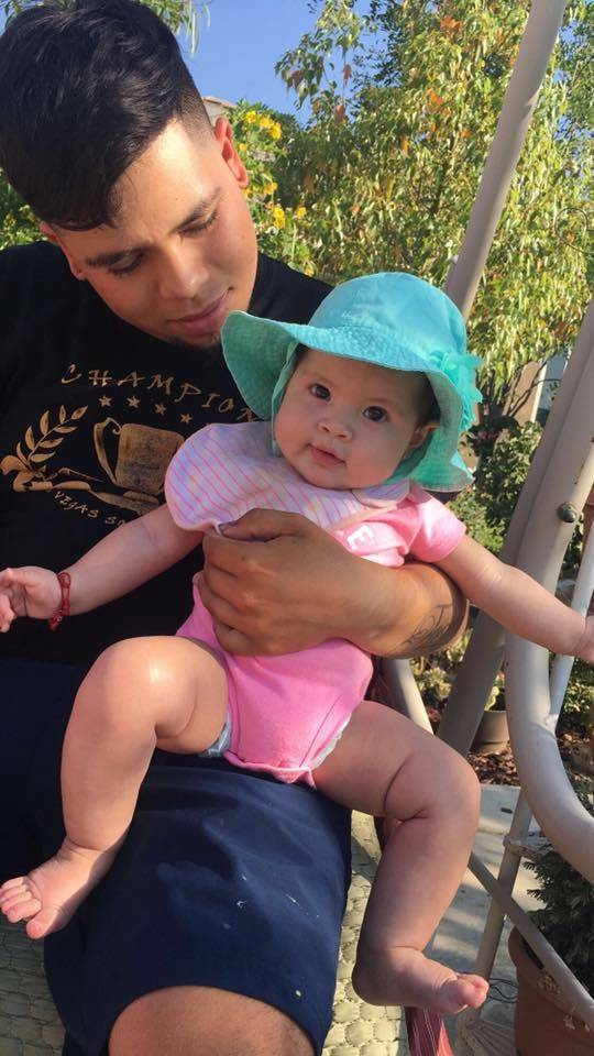 Anthony Mondragon poses with his daughter, 1-year-old Emma Rose Mondragon, in this undated photo. He was pulled out of Lake Mead early Sunday morning with the child and his girlfriend, Jeanette Za ...