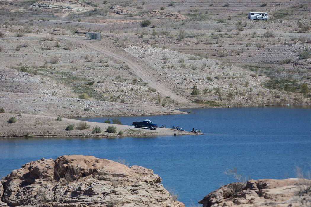 A beach area at Lake Mead National Recreation Area. (Chase Stevens/Las Vegas Review-Journal) @csstevensphoto