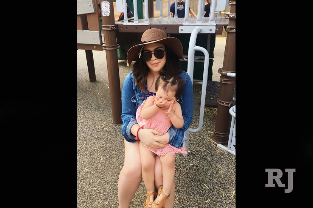 Jeanette Zaltierrez, 22, poses with her daughter, 1-year-old Emma Rose Mondragon, in this undated photo. Zaltierrez, her daughter and her boyfriend were pulled out of Lake Mead early Sunday mornin ...