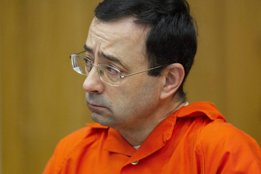 Larry Nassar. (Cory Morse/The Grand Rapids Press via AP, File)