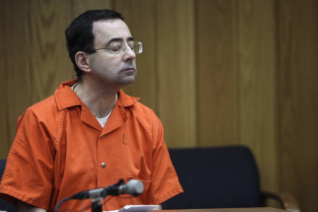 Larry Nassar. (Matthew Dae Smith/Lansing State Journal via AP)