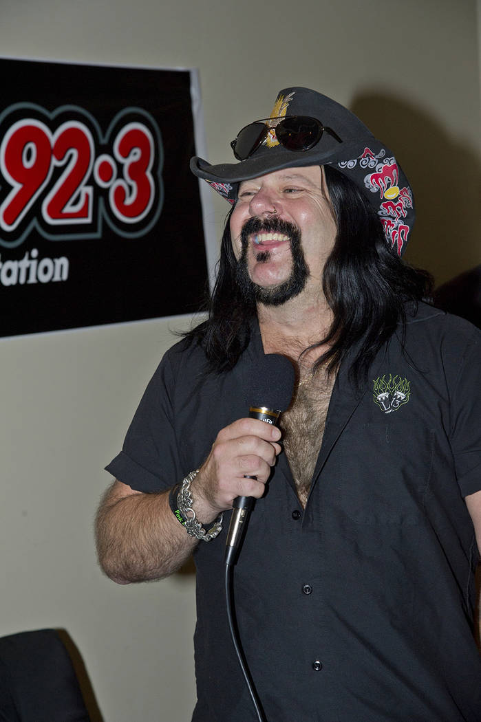 Vinnie Paul of Hellyeah is seen during the Rock Vegas Music Festival at Mandalay Bay on Sept. 28, 2012, in Las Vegas. (Photo by Amy Harris/Invision/AP)