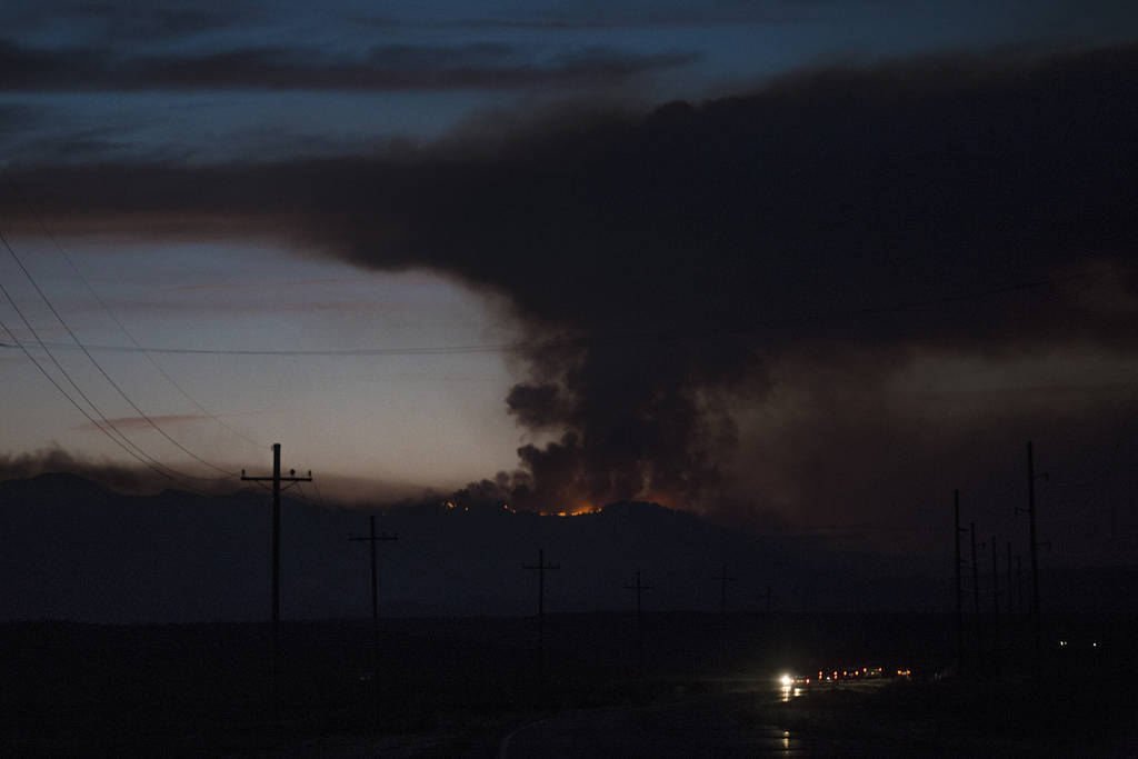 The West Valley Fire seen from 59 North in southern Utah, Friday, June 29, 2018. (Rachel Aston Las Vegas Review-Journal @rookie__rae)